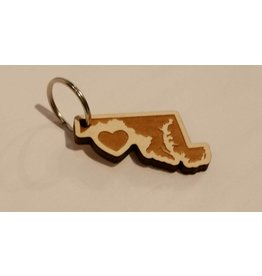 Home State Apparel Home State Apparel - Wooden Key Chain, Heart