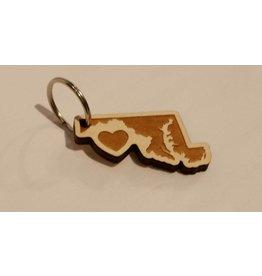 Wooden Keychain - Heart