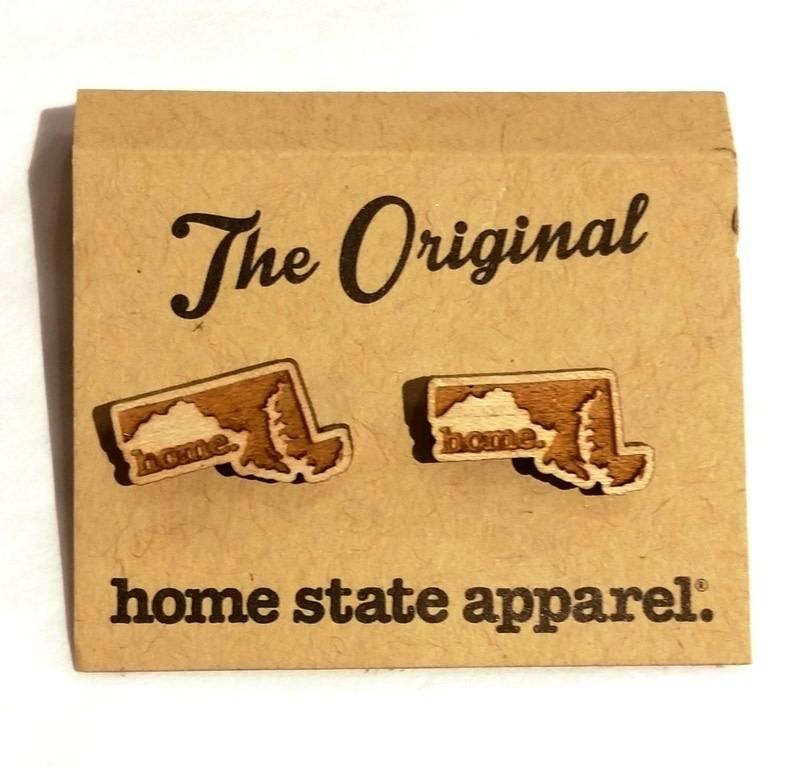 Home State Apparel Home State Apparel - State Shape Post Earrings