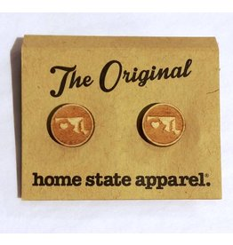 Home State Apparel Home State Apparel - Heart Post Earrings
