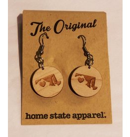 Home State Apparel Home State Apparel - Big Circle Heart Dangle Earrings