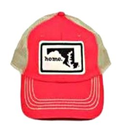 Home State Apparel home. Hat, Red/Black