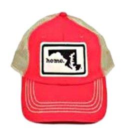 Home State Apparel Home State Apparel - Home Hat, Red/Black