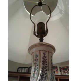 French-Style Lamp with Silk Shade