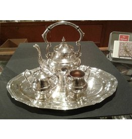 Silver-Plated Copper 4 Piece Tea Set