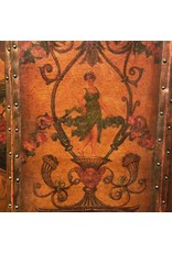 Painted Leather Screen