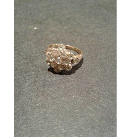 "Vintage Mine Cut Diamond Ring ""Flower"""