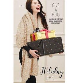 Luxe Faux Fur Wrap - Black
