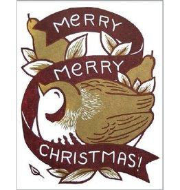 Single Greeting Card - Christmas Partridge