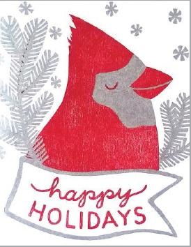 Single Greeting Card - Holiday Cardinal