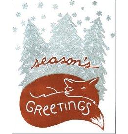 Single Greeting Card - Holiday Fox