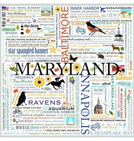 Maggie Stewart Design Note Card Set - Maryland