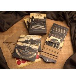 Vintage Typewriter Thank You Cards
