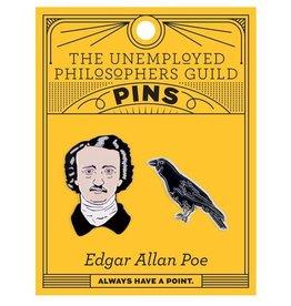 Edgar Allan Poe Enamel Pin, Set of 2