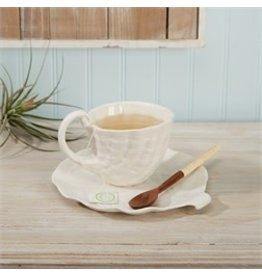 Shell Tea Cup & Saucer