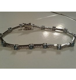 Sterling & Topaz Bracelet