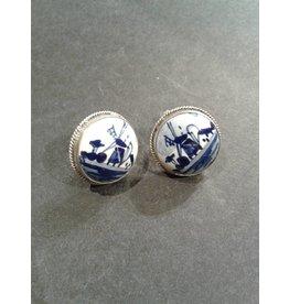 Sterling & Delft Earrings