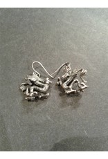 Sterling Dragon Earrings