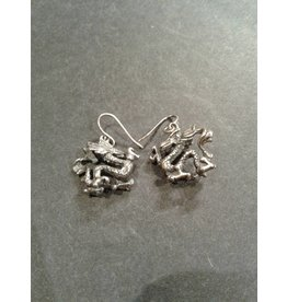 Sterling Dragon Earrings