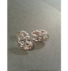 Sterling Repousse Earrings