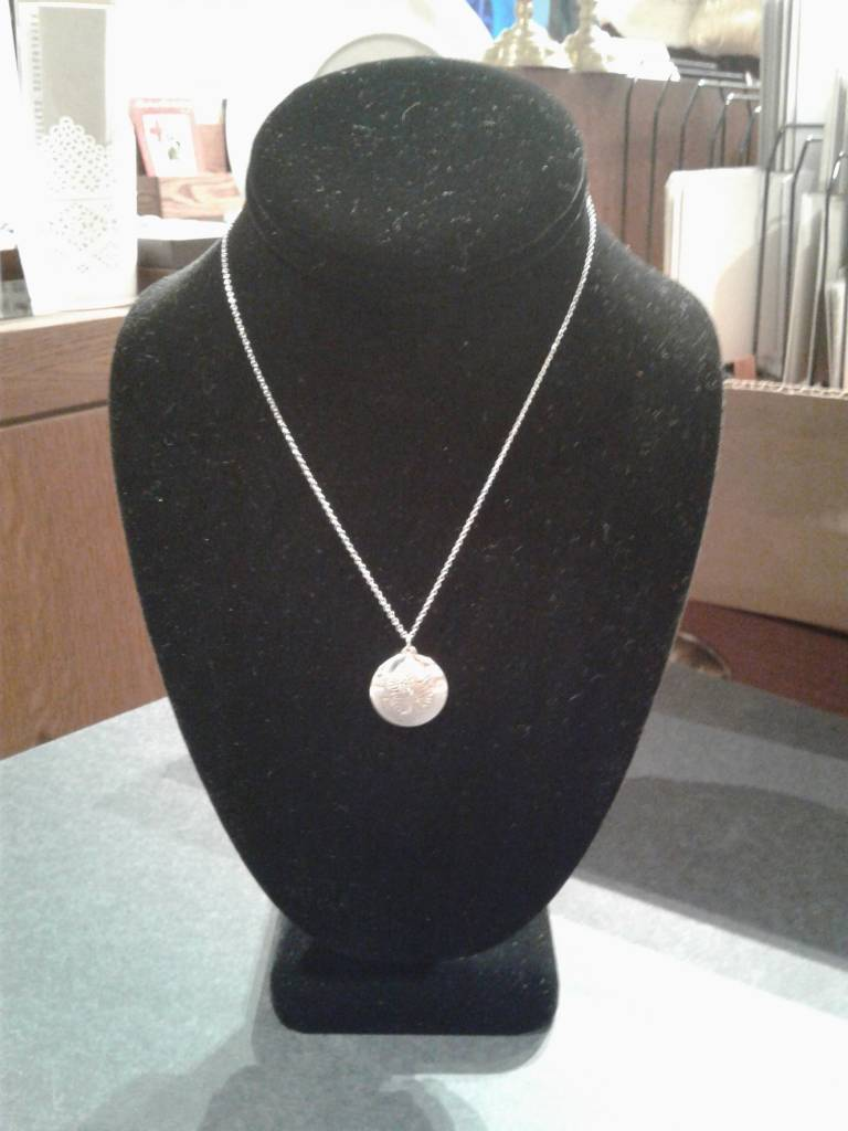 Sterling Chrysanthemum Necklace