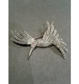 Sterling & Marcasite Hummingbird Pin