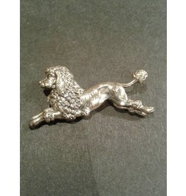 Sterling Poodle Pin