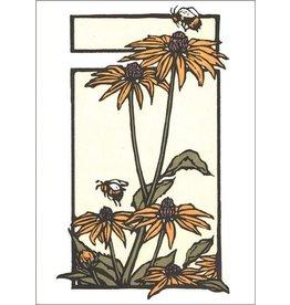 Arts & Crafts Press Card - Black-eyed Susans