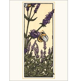 Arts & Crafts Press Card - Lavender & Bee