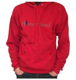"Red ""History Nerd"" Sweatshirt, X-Large"