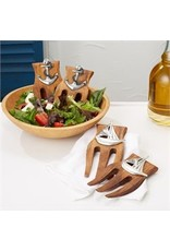 Set of 2 Wood Salad Servers