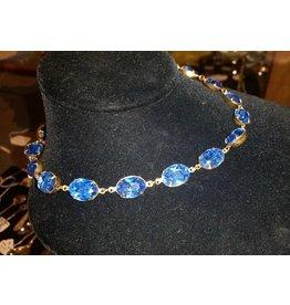 Collet Necklace - Sapphire