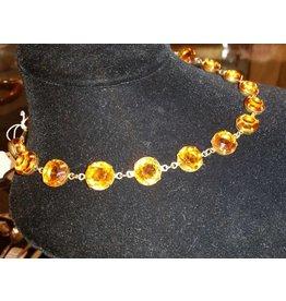 Collet Necklace - Topaz