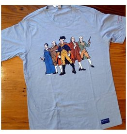 "The History List Blue ""Revolutionary Superheroes"" Shirt"