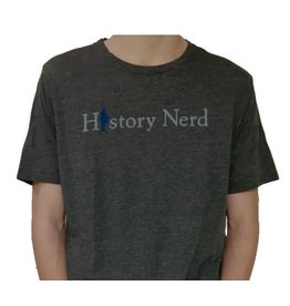 "The History List Grey ""History Nerd"" Shirt"