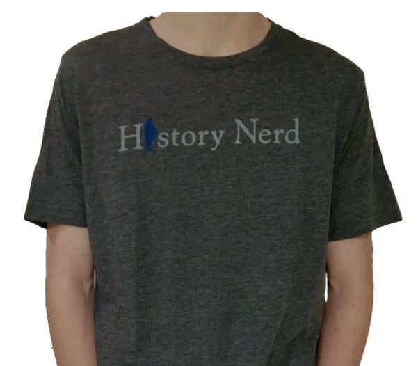 "The History List Grey ""History Nerd"" Shirt"