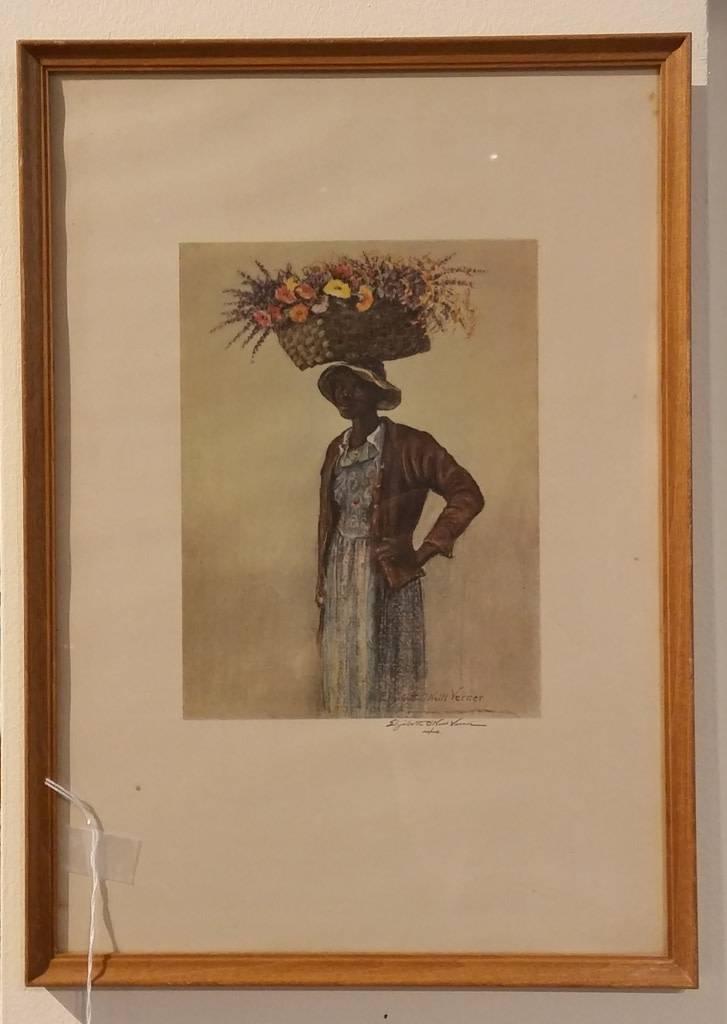 Elizabeth Verner Print, Charleston Flower Seller