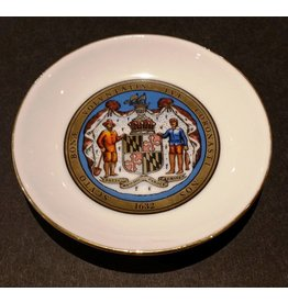 Maryland Seal Ceramic Coaster, Gold Trim