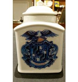 Delft Maryland Shield Tea Cannister