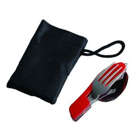 Adventurer's Pocket Folding Knife, Fork & Spoon Set