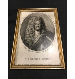 English Sir George Print, Framed