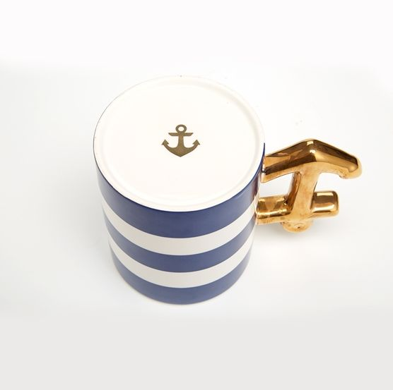 Golden Anchor Mug, Assorted