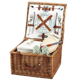 Picnic at Ascot Cheshire Picnic Basket for Two, Gazebo