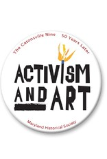 Activism and Art Button - White