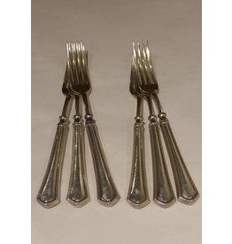 Set of 6 Dinner Forks, Maker Unknown