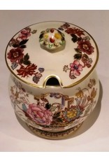 Mason's Ironstone Condiment Jar with Lid