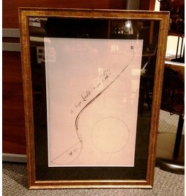 Framed William Faris Sketching, Ladle