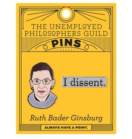 Unemployed Philosophers Guild Ruth Bader Ginsburg Enamel Pin, Set of 2