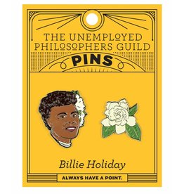 Unemployed Philosophers Guild Billie Holiday Enamel Pin, Set of 2