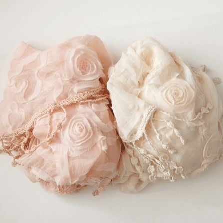 Antique Rosette Scarf